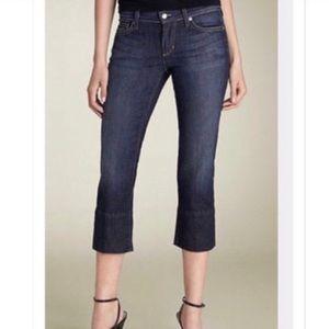 Joe's Jeans   Slit Hem Kicker Crop Jeans